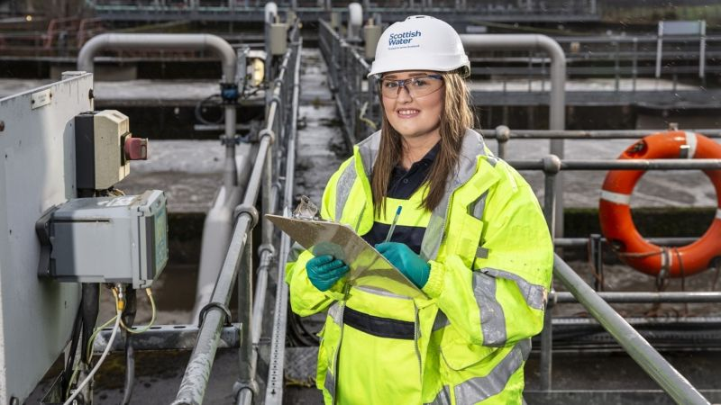 Ailish Lavelle, waste water treatment modern apprentice, Scottish Water